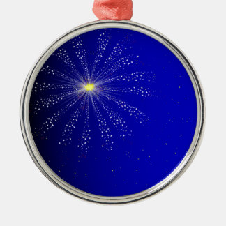 Firework Silver-Colored Round Decoration