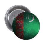 Firework; Turkmenistan Flag Pinback Button