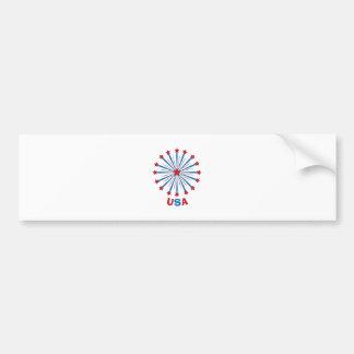 Firework_USA Bumper Stickers