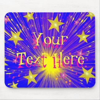 Firework 'Your Text' mousepad