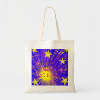 Firework 'Your Text' tote bag