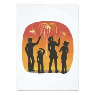 Fireworks 13 Cm X 18 Cm Invitation Card