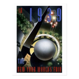 """""""Fireworks"""" - 1939 NY World's Fair Postcard"""