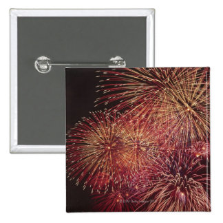 Fireworks 3 15 cm square badge