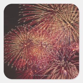 Fireworks 3 square sticker