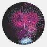 Fireworks 4 classic round sticker