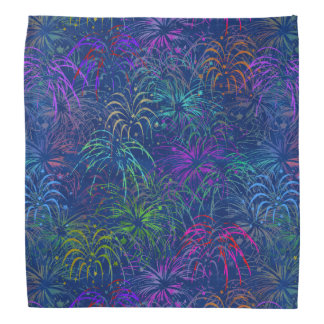 Fireworks 4th of July Colorful Summer Pattern Bandana