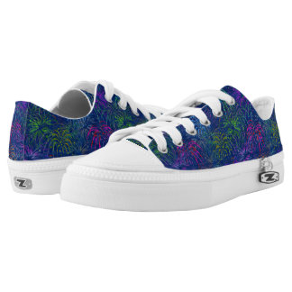 Fireworks 4th of July Colorful Summer Pattern Low Tops