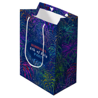 Fireworks 4th of July Party | Personalized Summer Medium Gift Bag