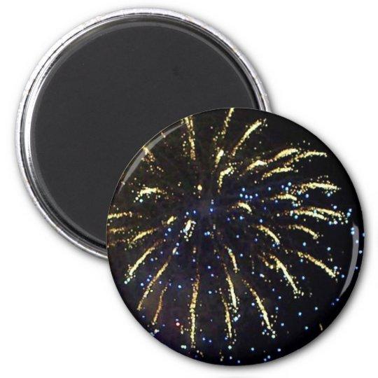 Fireworks 6 Cm Round Magnet