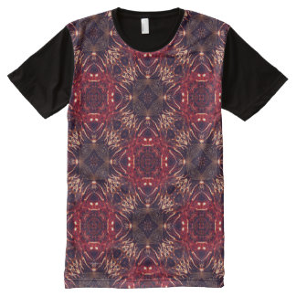 Fireworks Abstract All-Over Print T-Shirt