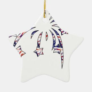 Fireworks America USA National Flag Independence D Ceramic Star Decoration