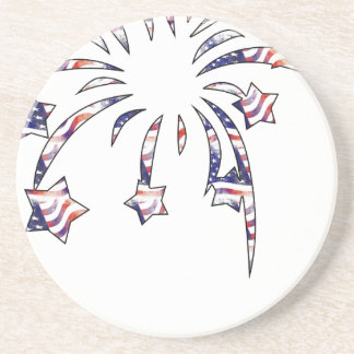 Fireworks America USA National Flag Independence D Coaster