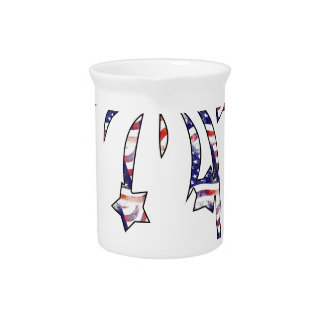 Fireworks America USA National Flag Independence D Drink Pitcher
