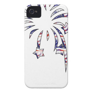 Fireworks America USA National Flag Independence D iPhone 4 Case-Mate Case