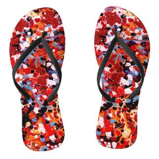 FIREWORKS! (an abstract art design) ~ Flip Flops