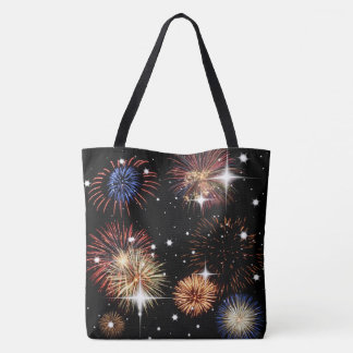 Fireworks and Stars Tote Bag