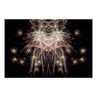 "Fireworks Art: ""Griffin"" Original digital art Poster"