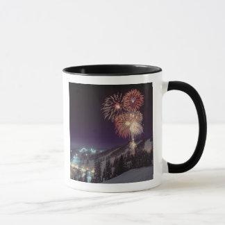 Fireworks at Big Mountain Resort in Whitefish, Mug