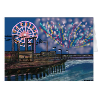 Fireworks at the Boardwalk Cards