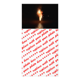 Fireworks at Waters Edge Personalized Photo Card