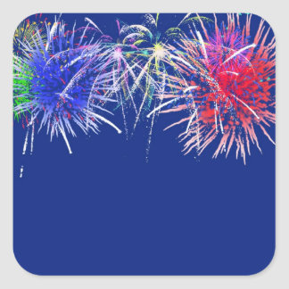 Fireworks Background Square Sticker