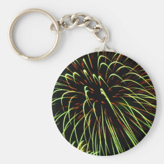 Fireworks Basic Round Button Key Ring