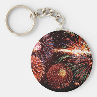 Fireworks Basic Round Button Key Ring