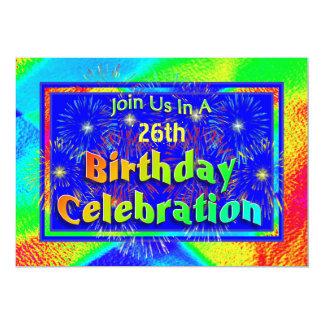 "Fireworks Birthday Invitations Celebration 5"" X 7"" Invitation Card"