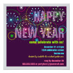 Fireworks Celebration for New Years Eve Party 13 Cm X 13 Cm Square Invitation Card