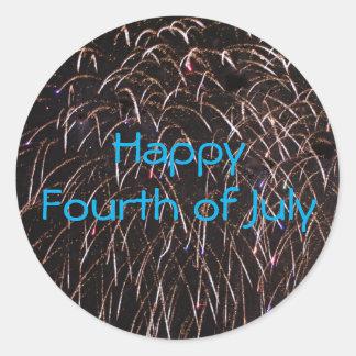 Fireworks Celebration Round Sticker