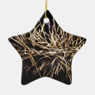 Fireworks Ceramic Star Decoration