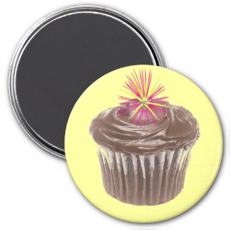 Fireworks Chocolate Cupcake and Icing Magnet
