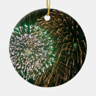 fireworks christmas ornament