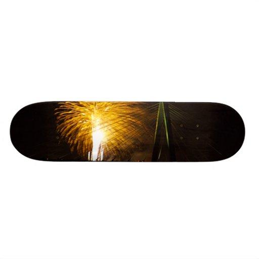 Fireworks Christopher S. Bond Bridge Kansas City 2 Skateboard