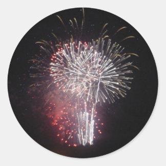 Fireworks Classic Round Sticker