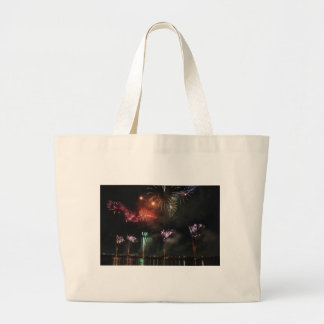 Fireworks Colorful Night Sky Tote Bags