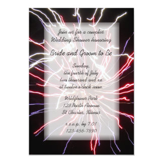 Fireworks Couples Wedding Shower Invitation