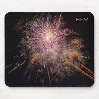 Fireworks custom monogram mousepad