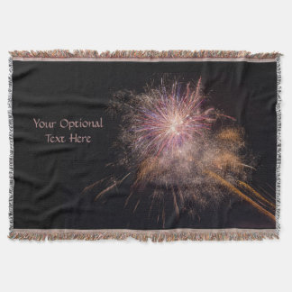Fireworks custom throw blanket
