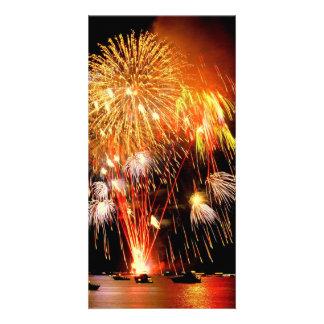 Fireworks Customised Photo Card
