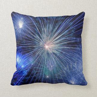 FIREWORKS DISPLAY, Blue & Multicolor Cushion