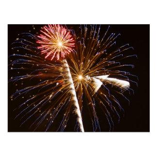 Fireworks display on Savannah River 2 Postcard