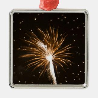 Fireworks display on Savannah River Christmas Ornament