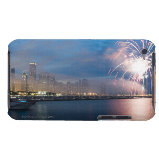 Fireworks display over the Chicago lakefront at Barely There iPod Cover
