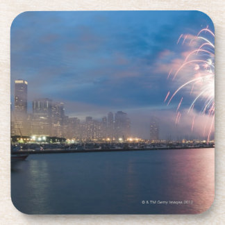 Fireworks display over the Chicago lakefront at Coaster