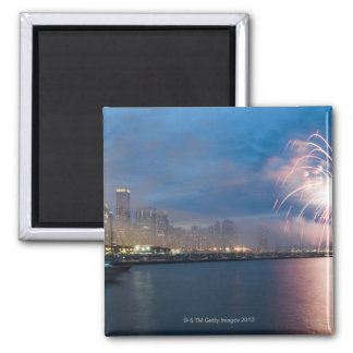 Fireworks display over the Chicago lakefront at Magnet