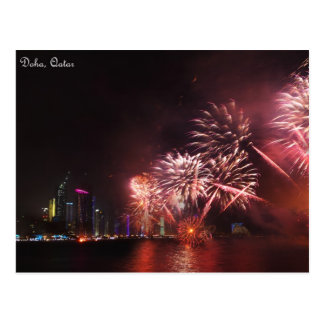 Fireworks display postcard
