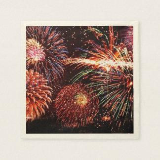 Fireworks Ecru Standard Cocktail Paper Napkins Paper Napkin