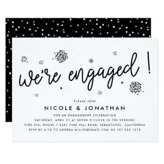 Fireworks | Engagement Party Invitation